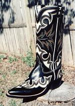 Black and Bone Boot -- Winner of the Unique Class Show Favorite, at Brownwood, Texas - 2001
