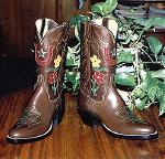 Bilby Kangaroo Boot w/Lucky Horseshoe & Flowers