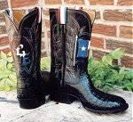 Made for a Texas Senator:  Texas Flag HornBack Gator Boots