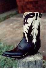 Black and Bone Pee-Wee Boot